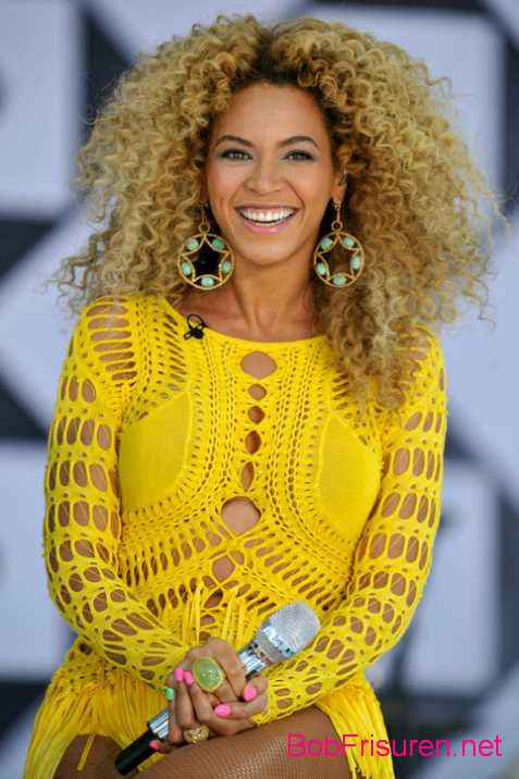 beyonce frisuren fur lockiges haar