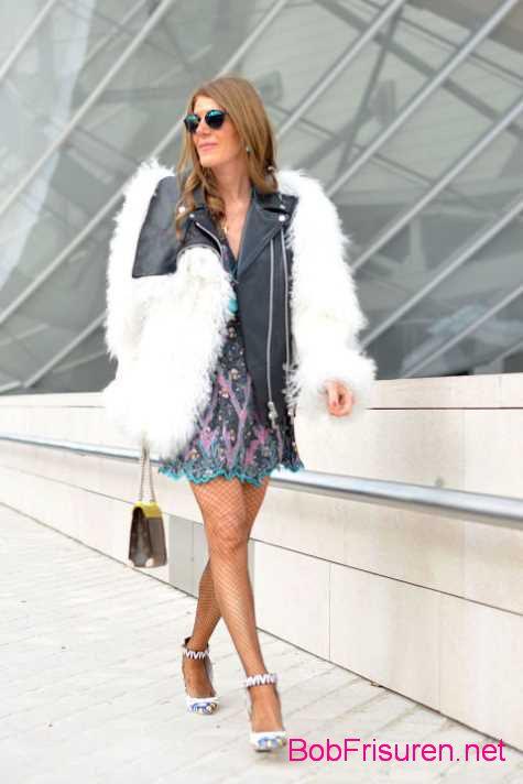 geschaftsfrau street style frisuren abendkleid 2015