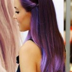 ombre haarfarben lila blau