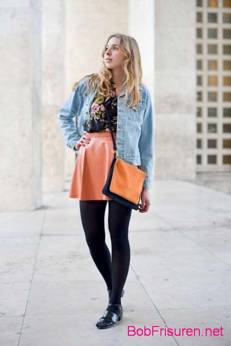 paris mode street style frisuren abendkleid
