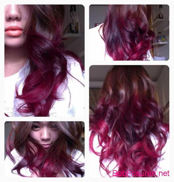 rosa ombre haarfarben