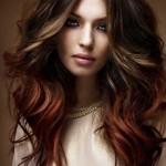 rot braun ombre haarfarben