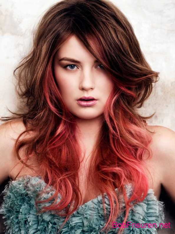 rote ombre haarfarben 2015