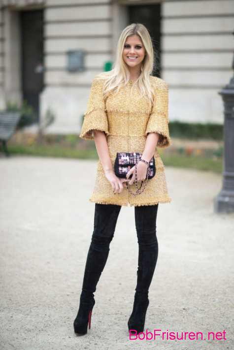 street style frisuren abendkleid haarfarben
