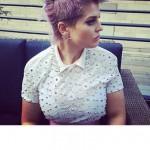 violette haarfarben lila frisuren