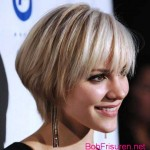 bob frisuren mit pony blond