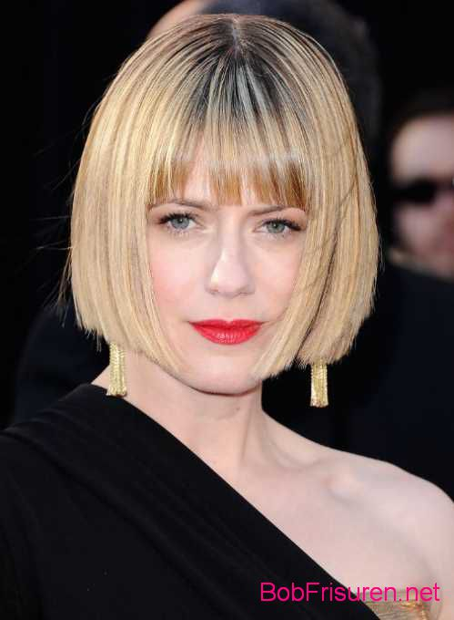 bob frisuren mit pony sleek