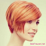 bob hairstyles colors orange