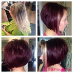 bob hairstyles colors pink
