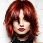 rote haarfarben moderne frisuren