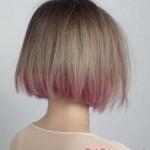 blonde Haar und rosa Ombre hair