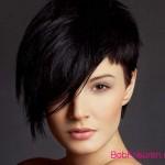 schwarz farben asymmetrische kurze frisuren