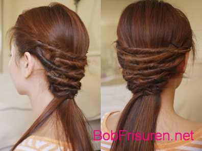 Schnelle und einfache Haar-Torsion frisuren zum selber machen