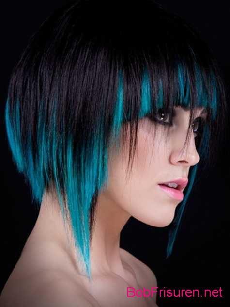 schwarz blau kurz frisuren frauen 2015