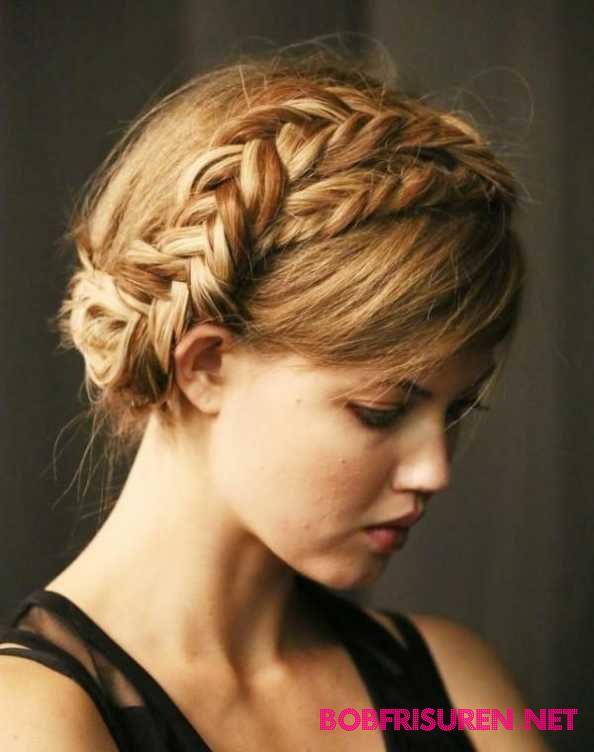 Frisuren geflochten ihr Haar Oktoberfest Dirndl daisy