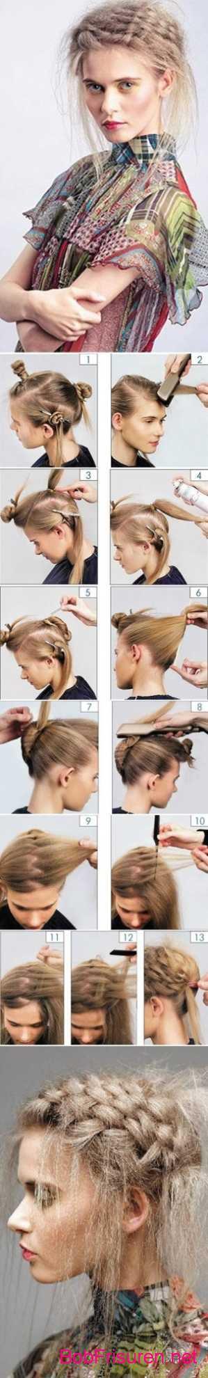 flechtfrisuren lange haare hochzeit