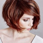 mode bob frisuren rote haarfarbe