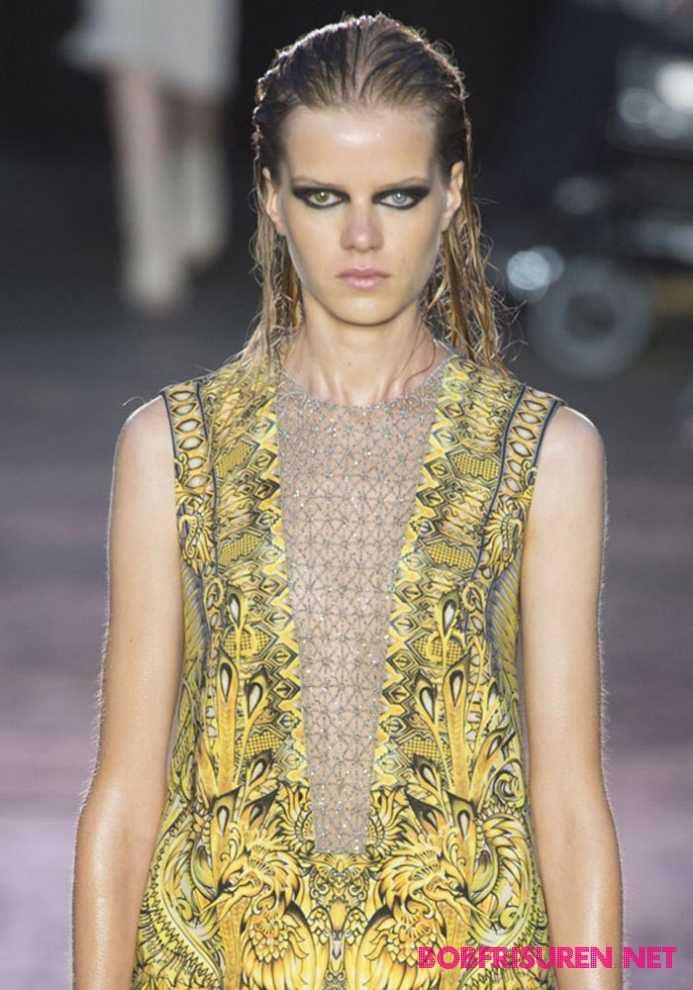 mode langhaarfrisuren 2016 nasse haare