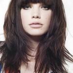 moderne frisuren 2016 frau schneiden mit langen haaren und braunen