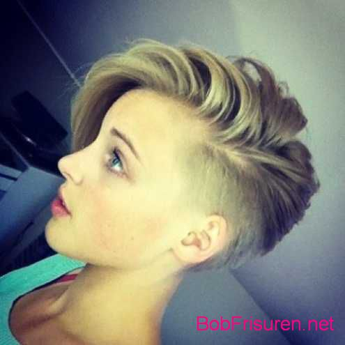 undercut frisuren frau mittellang