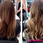frisuren frau mit haarverlangerungen