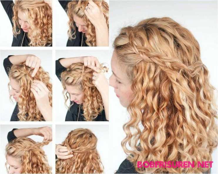 locken frisuren lange haare anleitung