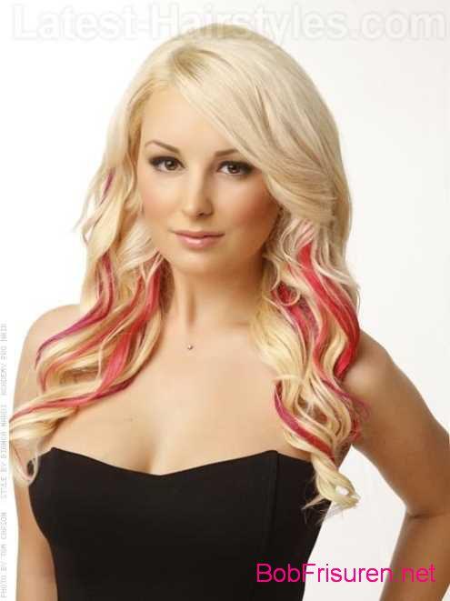 blond rosa ombre haarfarben