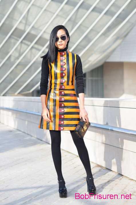 neue geschaftsfrau street style frisuren abendkleid