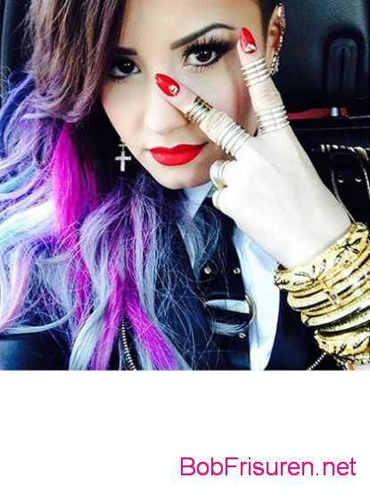 neue violette haarfarben demi lovato