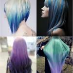 schwarz blau lila rosa ombre haarfarben