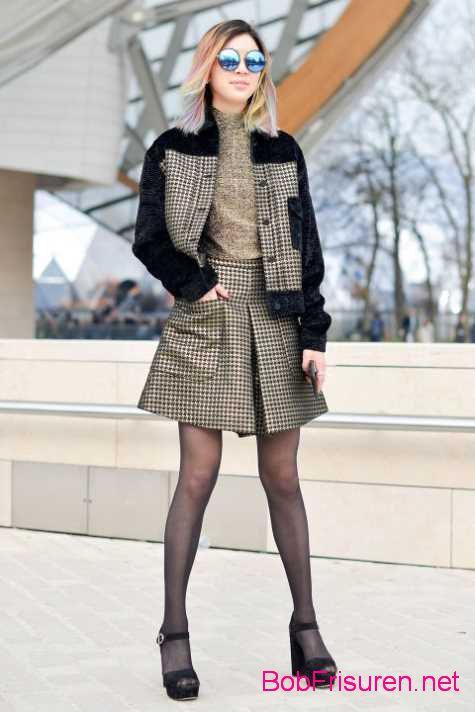 street style frisuren abendkleid 2015