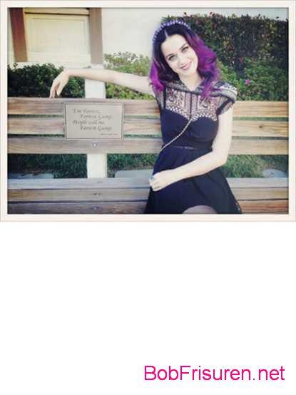 violette haarfarben katy perry frisuren