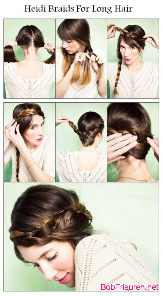 schone geflochtene zopfe frisuren fur lange haare