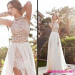 Hochzeitsfrisuren 2016 fur Ausschnitt Kleid - elegante chignon
