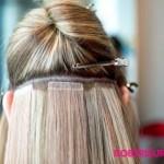 haarverlangerungen mit haarspange gestellt