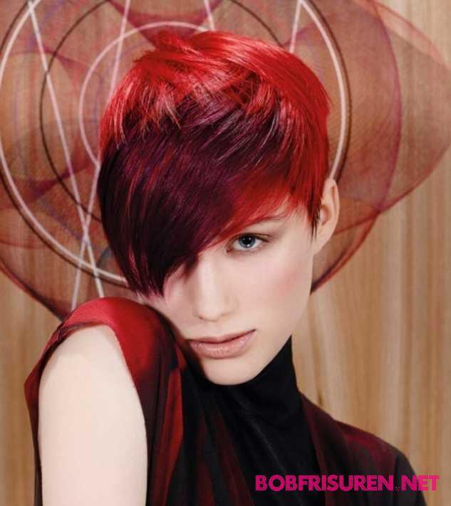 rote haarfarben kurzhaarfrisuren trend 2016